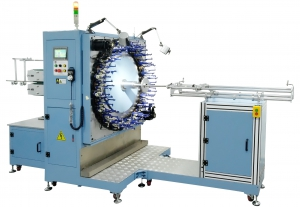horizontal medical stents and occluders braiding machine